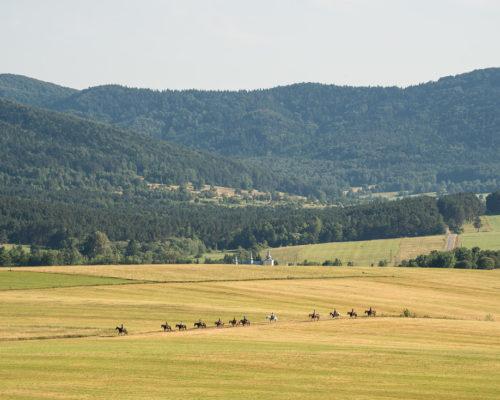 Fotoreportaż z rajdu konnego <br> Gładyszów – Popowe Wierchy – Jasionka – Krzywa – Banica – Magura Małastowska